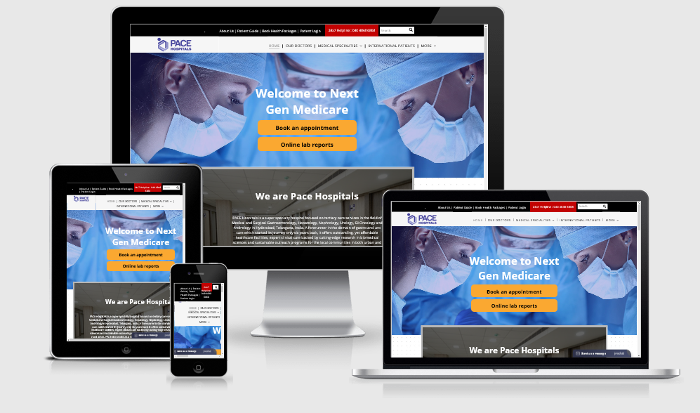 Doctors Physician Website Design Development Services Hyderabad