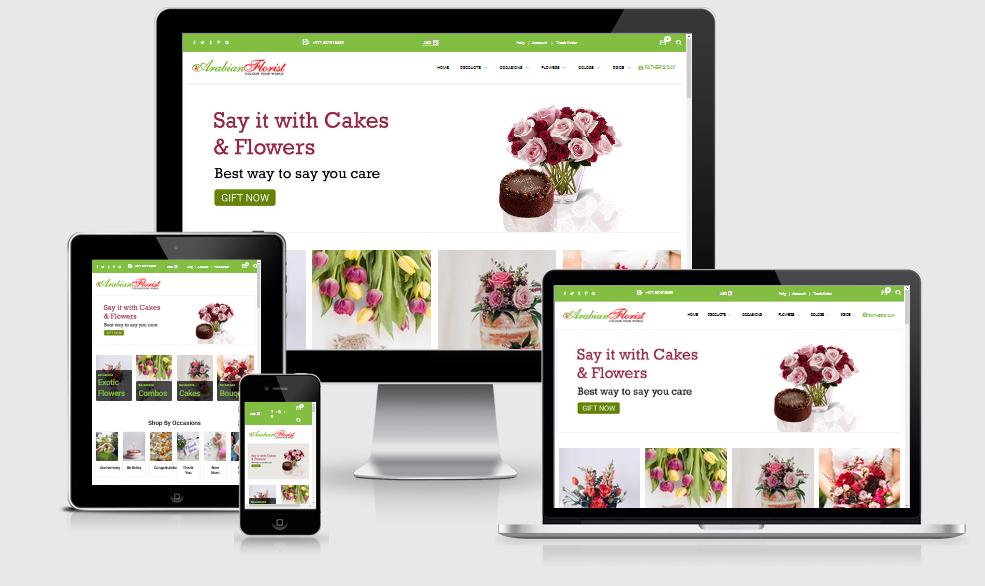 Flowers Gifts Website Design Development Services Hyderabad